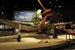 Nakajima Ki-43 Hayabusa Warplane. Museum of Flight, Seattle, Washington, USA. The Nakajima Ki-43 Hayabusa aircraft was used by the Japanese Air Force from the Royalty Free Stock Photo