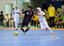 NAKAJIMA Shiori of Japan #10 and ETEDADI Fatemeh of Iran fight for the ball Royalty Free Stock Photos