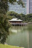 Nakajima Tea House in Tokyo, Japan. Nakajima Tea House on the lake in Tokyo, Japan Royalty Free Stock Images
