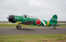 Nakajima Torpedo Bomber. Replica of a Japanese WWII Nakajima torpedo bomber. This was built for the movie Tora Tora Tora-the attack on Pearl Harbour, taxing on Stock Photography