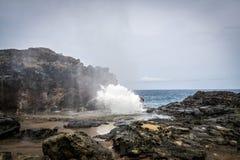 Nakalele Blowhole Maui Hawaje Zdjęcie Stock