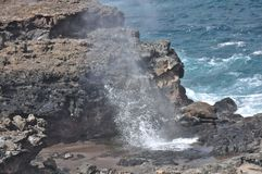 Nakalele Blowhole2 Royalty Free Stock Photos