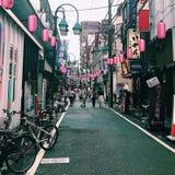 Nakameguro, Токио, Япония стоковая фотография