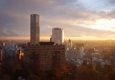 Nakameguro linia horyzontu Zdjęcia Royalty Free