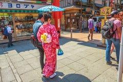Nakamise-dori em Asakusa fotos de stock