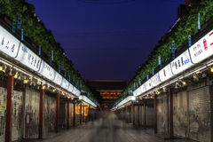 Nakamise dori shops. Leading to sensoji temple in tokyo, japan Royalty Free Stock Photography