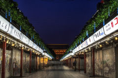 Nakamise dori shops. Leading to sensoji temple in tokyo, japan Stock Image