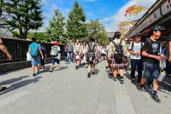 Nakamise Shopping Street Asakusa Royalty Free Stock Photos