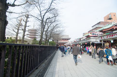 Nakamise shopping street Royalty Free Stock Images