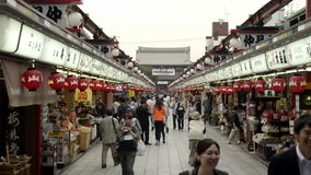 Nakamise, a traditional shopping street in Tokyo, Japan Stock Photo