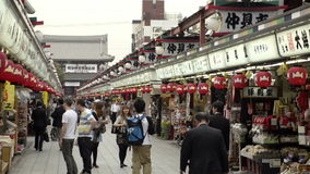 Nakamise, a traditional shopping street in Tokyo, Japan Stock Photography