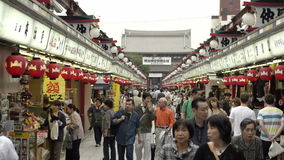 Nakamise, a traditional shopping street in Tokyo, Japan Royalty Free Stock Photography