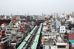 Nakamise of you looked down from above Asakusa Royalty Free Stock Image