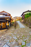Nakasendo Magome Town Wooden Houses Stone Path V Stock Photos