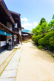 Nakasendo Tsumago Dirt Road Old Restored Houses V Stock Images