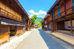 Nakasendo Tsumago Empty Main Street Stores H Royalty Free Stock Photography