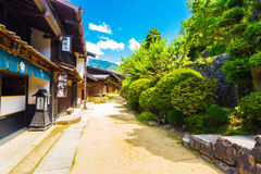 Nakasendo Tsumago Village Dirt Road Wood Houses H Stock Photos