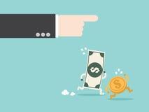 Nakazowy pieniądze pracuje dla ciebie ilustracji