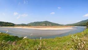 Nakdong河看法从Hahoe村庄的 免版税库存照片