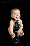 Naked Baby in tie stock photos