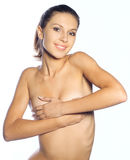 Naked beautiful woman Stock Photography