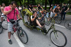 Naked bike ride in Thessaloniki - Greece Stock Images