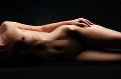 Naked body of a young and beautiful woman Stock Image