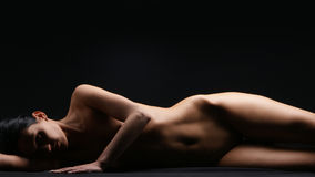 Naked body of a young and beautiful woman Stock Photos