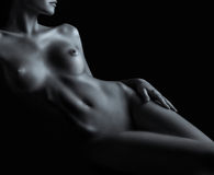 Naked body of young and sexy woman Royalty Free Stock Image