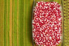 Naked cake with pomegranates Royalty Free Stock Photos