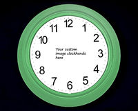 Naked clock. Clock face with room for insertion of image for clock hands Royalty Free Stock Photography