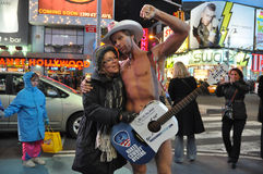 Naked Cowboy Royalty Free Stock Photography