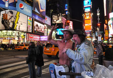 The Naked Cowboy Stock Photography