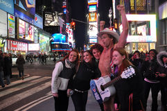 The Naked Cowboy Stock Image