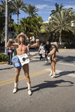Naked cowboy in Miami Beach Royalty Free Stock Photography