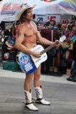 Naked Cowboy stock photography