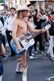 Naked Cowboy Royalty Free Stock Photos
