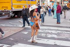 Naked Cowgirl Royalty Free Stock Photography