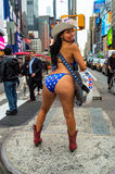 Naked Cowgirl Rear Royalty Free Stock Image