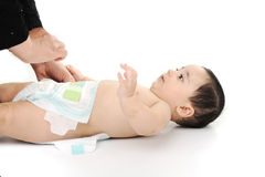 Naked cute baby isolated Stock Images