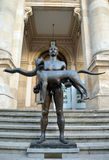 Naked Emperor Trajan statue outside National Museum, Bucharest  Royalty Free Stock Photography