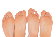 Naked feet Stock Images