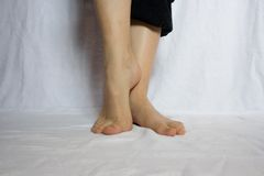Naked feet Stock Photo
