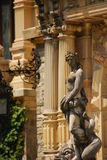 Naked Female Statue at Peles Castle Stock Photo