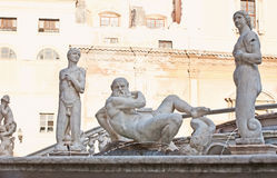 The naked Greek Gods in marble Stock Photo