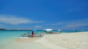 Naked island. Sandy beach on the Naked island, Philippines Royalty Free Stock Photography