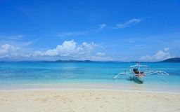 Naked island. Sandy beach on the Naked island, Philippines Stock Images