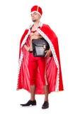 Naked king businessman isolated Stock Photography