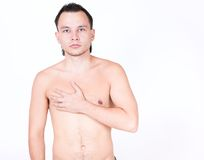 Naked male model Royalty Free Stock Photography