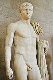 Naked male statue, museum ancient corinth Royalty Free Stock Image